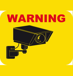warning surveillance tv vector image