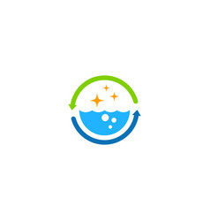 water bio cleaning process logo vector image