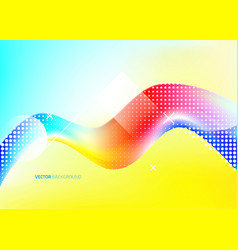 wave liquid shape in multi color background vector image