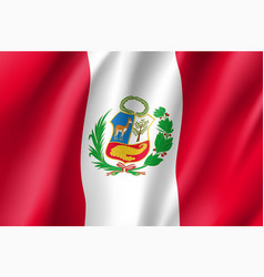 Waving flag of peru vector