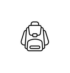 Web line icon knapsack black on white background vector