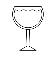 Wine cup drink isolated icon vector