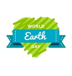 World Earth day greeting emblem vector image
