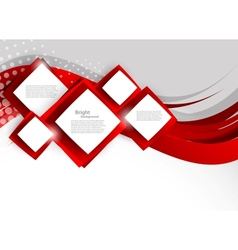 Abstract background with red squares vector image