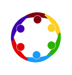 abstract group symbol vector image
