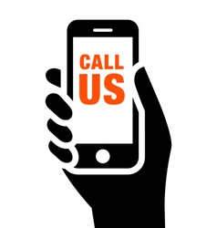 Call us sign vector image vector image