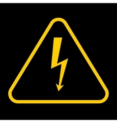 Danger sign with frame high voltage yellow vector
