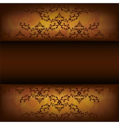 Grunge background with decorative pattern vector image vector image