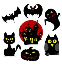 Halloween character hand writing cartoon vector image