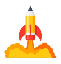 pencil launch icon vector image vector image