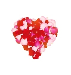 rose petals heart Can be used for creating vector image