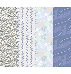 Seamless pattern 4 designs in one set vector image vector image