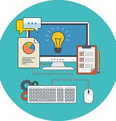 Business development concept Flat design Icon in vector image