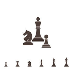 Chess Silhouette vector image vector image