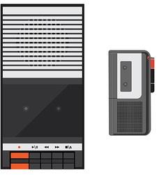 Digital voice recorder vector image vector image