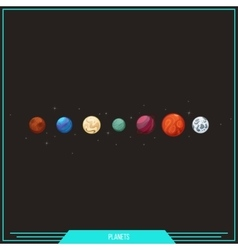 Game Element Planets vector image