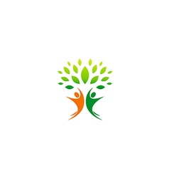 happy people vegetarian partner logo vector image