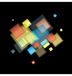 Rainbow abstract square vector image