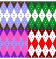 set of patterns wiyh rhombuses vector image vector image