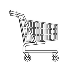shopping cart market store empty buy symbol vector image