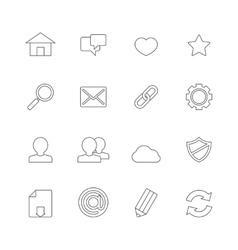Web Icons Line vector image vector image