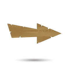 arrow wooden isolated vector image vector image