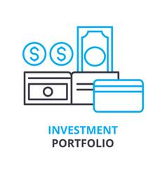 investment portfolio concept outline icon vector image