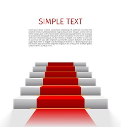 staircase with red carpet vector image vector image