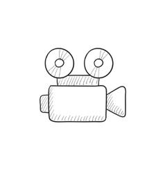 Video camera sketch icon vector image vector image