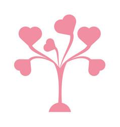 cute tree leaves shape heart vector image
