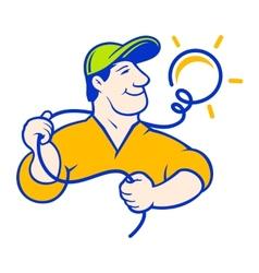 Electrician corporate logo vector image