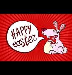 Happy easter day for red card design vintage vector