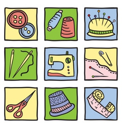 Sewing stuff and tools vector image
