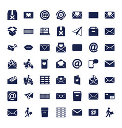 49 mail icons vector