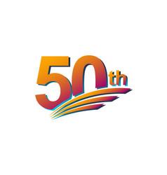 50 th anniversary elegant celebration template vector