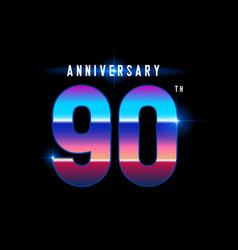 90 years anniversary celebration logotype vector