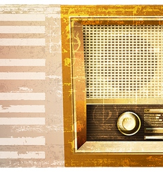 Abstract beige grunge piano background with retro vector
