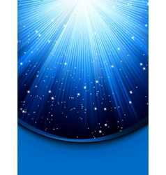 Abstract blue background with stars EPS 8 vector