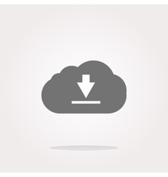 Abstract cloud icon Upload button Load symbol vector