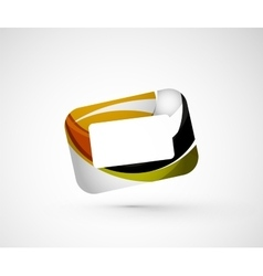 Abstract geometric company logo frame screen vector image