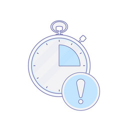 alarm alram clock hour minute time timer icon vector image