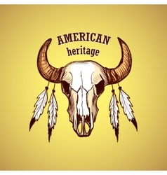 American indian emblems and labels vector image