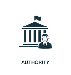 Authority icon simple element from regulation vector