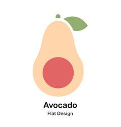 Avocado flat icon vector