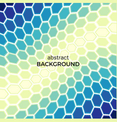 background with color hexagons elements vector image
