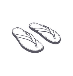 Beach slippers icon isolated on white background vector