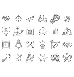 black engineering icons set vector image