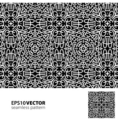 Black-white pattern 2 vector image