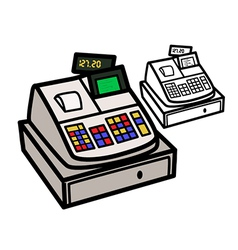 Cash Register vector image