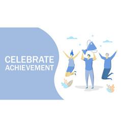 celebrate achievement concept for web vector image